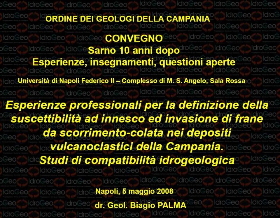 Sarno 10 anni dopo - Geologi Campania