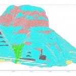 carta geomorfologica su prospetto frontale