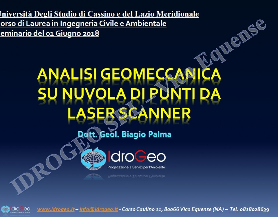 Analisi geomeccanica su Nuvola di Punti da laser scanner terrestre