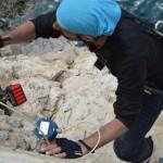 fase di allestimento dei sensori geotecnici con rocciatore