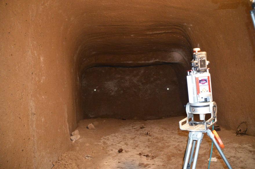 rilievo LTS cavità ipogea Ventotene con VZ400