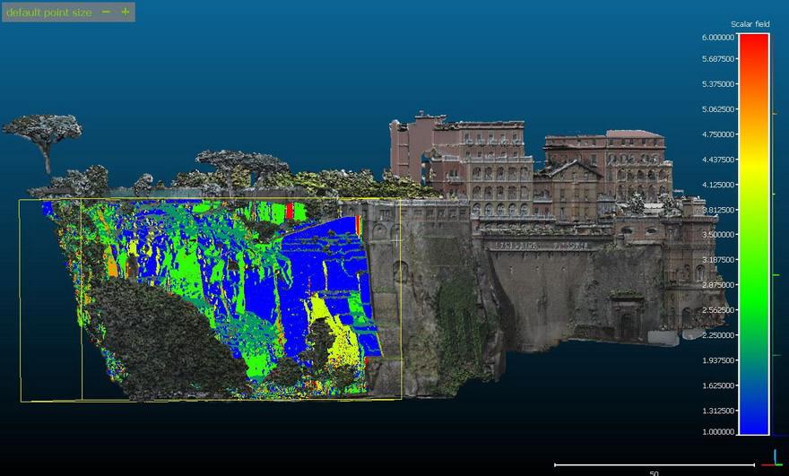 analisi geomeccanica su nuvola punti a laser scanner