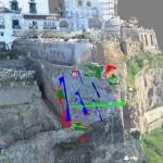 Analisi discontinuità su nuvola punti da laser scanner e drone