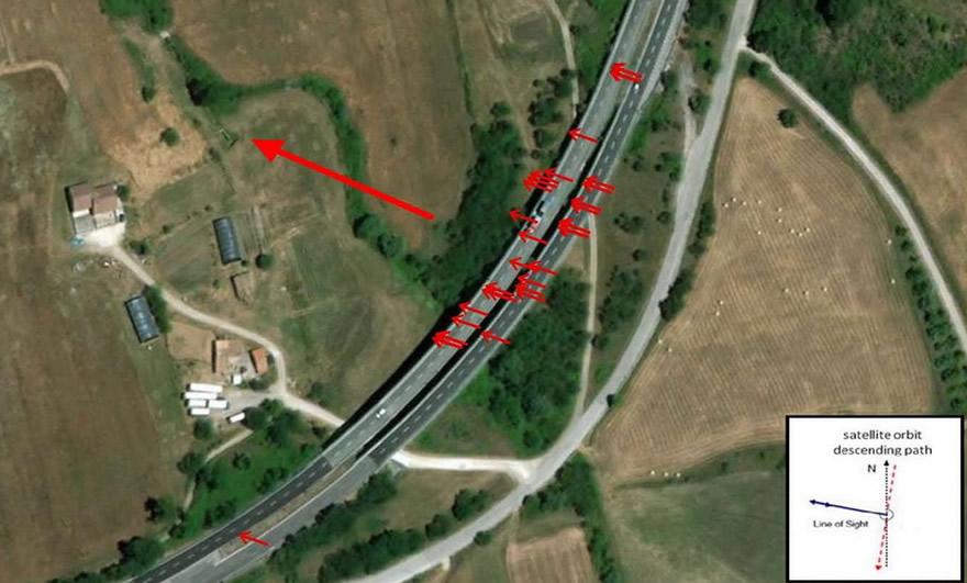 Interferometria satellitare Viadotto