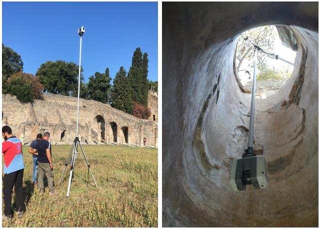rilievi laser scanner ambienti ipogei Scavi di Pompei