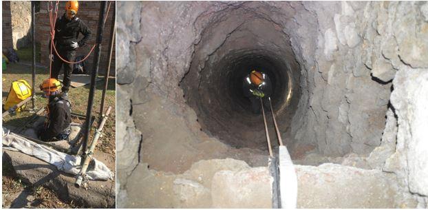 Ispezioni speleologiche degli ipogei degli Scavi di Pompei