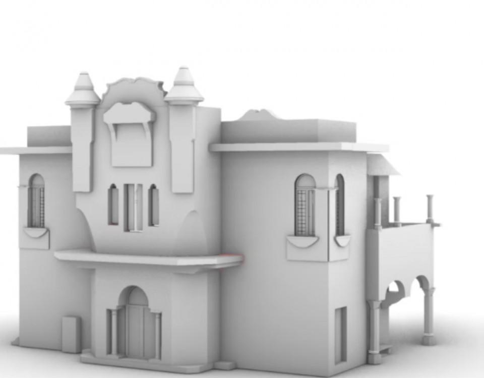 modello 3D da nuvola di punti LST
