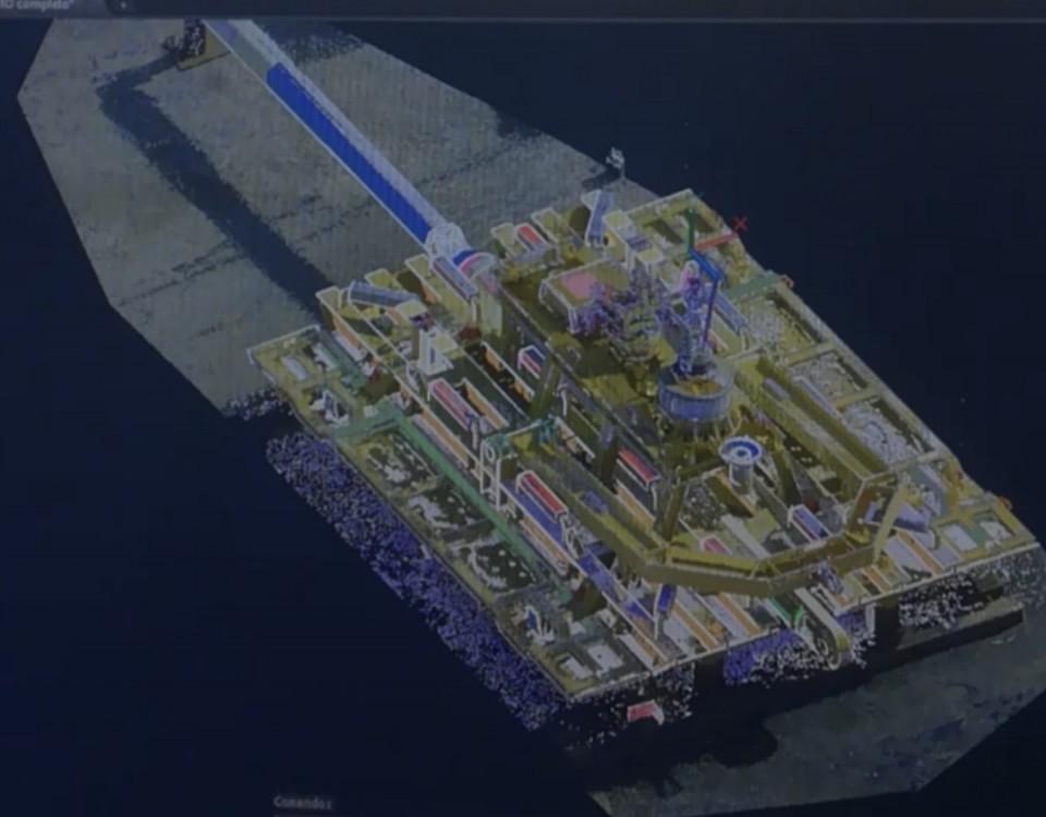 modellazione 3D di una nuvola di punti da LST