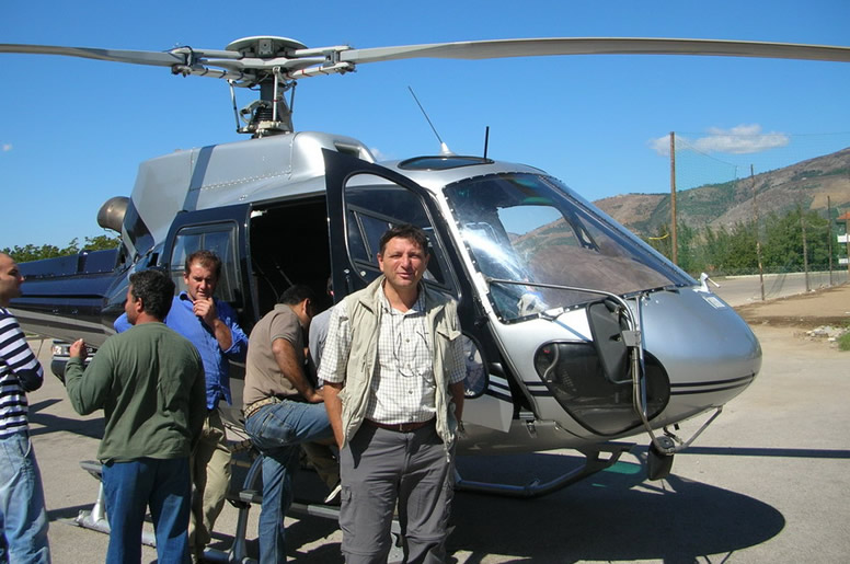 Trasporto materiali con elicottero